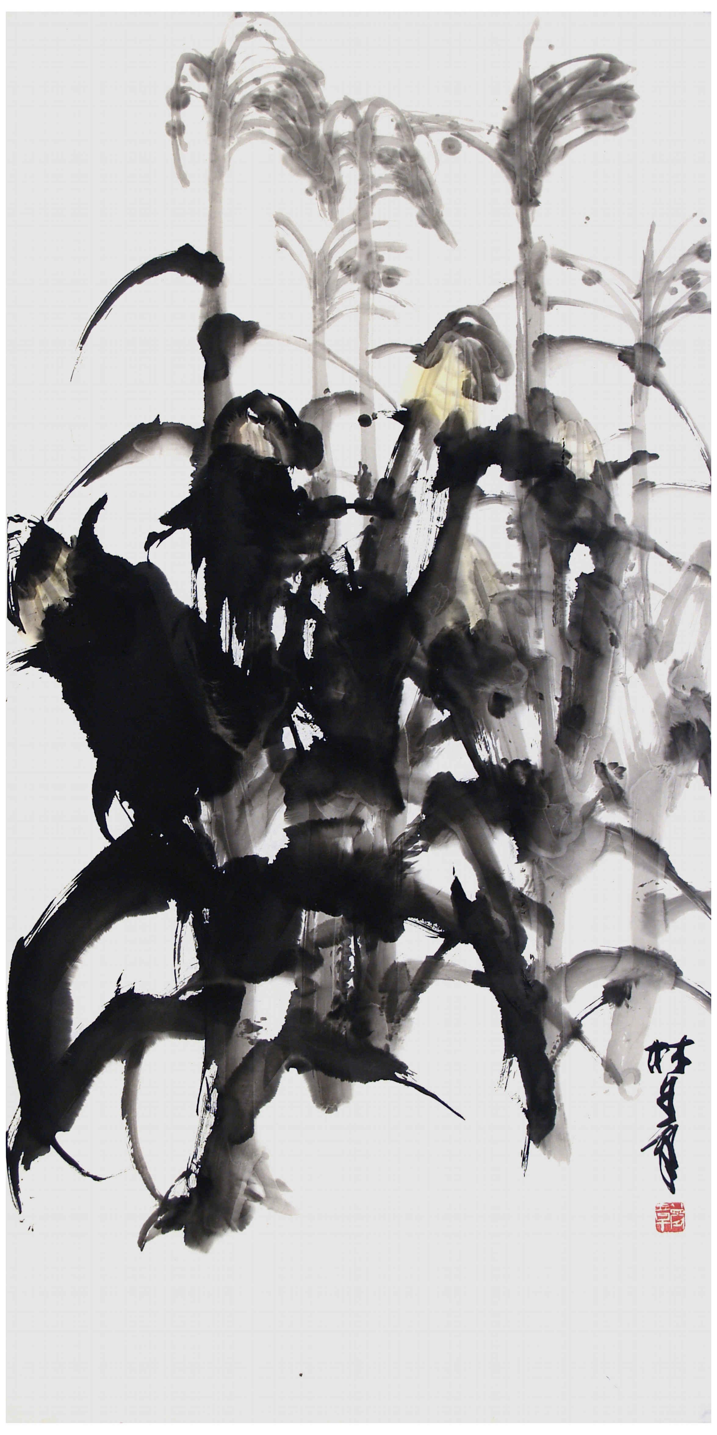 中國畫的技法並不是墨守陳規,一成不變,文人畫水墨畫正沿着「百花齊放」的方針不斷前進。無數曆代大師或當代各家的經驗成果,都是滋養我的藝術走向成熟的沃土,我懷着依戀和感激之情跪拜故鄉大地! (轉載自:1993年,齊夢章 著,人民美術出版社 出版,中國,《夢章畫集》-自序) 畫「大寫意」要對所畫對象進行反復的、細膩的觀察,從中探尋出自己所感悟的最具代表性的、最美的特徵。 在把握了這些特徵的基礎上放開具體技法的束縛大膽地運用筆墨去寫,寫出自己心意中凝聚出的超越出所畫對象的單純的形的旋律性的東西。 水墨的濃淡乾
